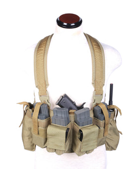 Phantom Tactical Combat Chest Rig (Tan)-Combat Gear-Crown Airsoft