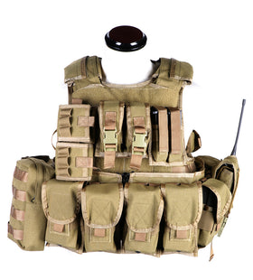 Phantom Tactical RAV Body Armor w/ pouch set (Tan)-Combat Gear-Crown Airsoft
