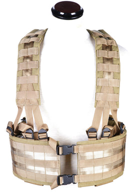 Phantom Tactical LBE Webbing MOLLE platform (Tan)-Combat Gear-Crown Airsoft