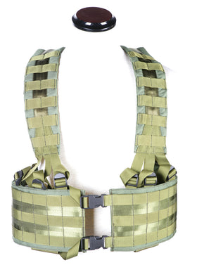 Phantom Tactical LBE Webbing MOLLE platform (Olive Drab)-Combat Gear-Crown Airsoft