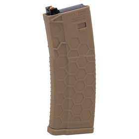 Hexmag Airsoft 120rds Polymer PTW Magazine(Dark Earth)-Rifle Magazines-Crown Airsoft