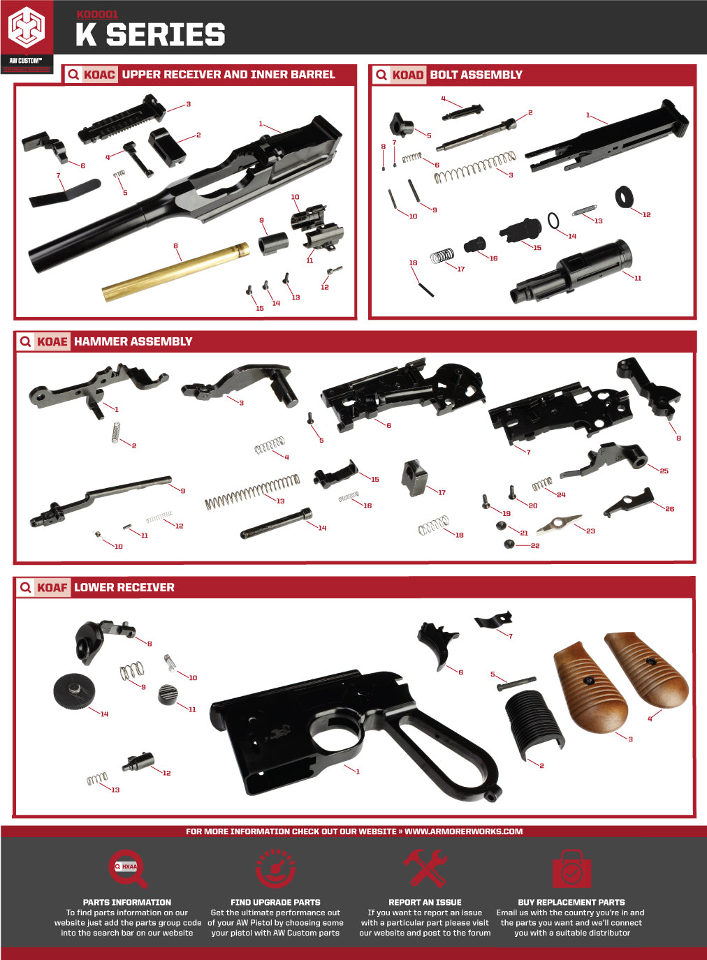 Aw Custom Replacement Parts Holster Motor Repalcement And Diagram