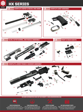 AW Custom HX10 Series Replacement Parts-Pistol Parts-Crown Airsoft