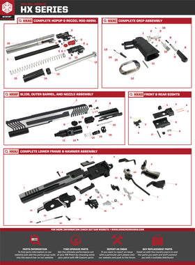 AW Custom HX11 Series Replacement Parts-Pistol Parts-Crown Airsoft