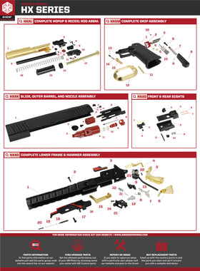 AW Custom HX20 Series Replacement Parts-Pistol Parts-Crown Airsoft