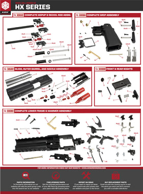 AW Custom HX21 Series Replacement Parts-Pistol Parts-Crown Airsoft