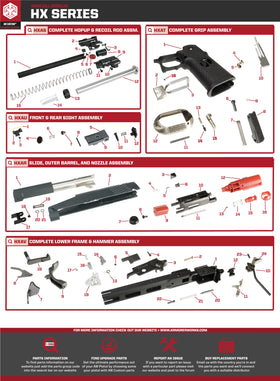 AW Custom HX22 Series Replacement Parts-Pistol Parts-Crown Airsoft