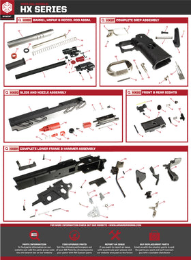AW Custom HX23 Series Replacement Parts-Pistol Parts-Crown Airsoft
