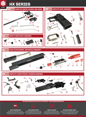 AW Custom HX24 Series Replacement Parts-Pistol Parts-Crown Airsoft