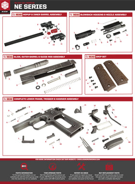 AW Custom NE20 Series Replacement Parts-Pistol Parts-Crown Airsoft