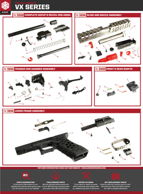 AW Custom VX01 Series Replacement Parts-Pistol Parts-Crown Airsoft