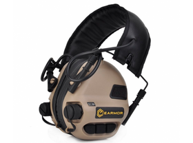 Earmor M31 Hearing Protection Ear-Muff (TAN)-Combat Gear-Crown Airsoft