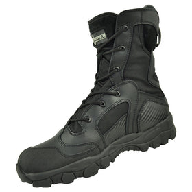 "Tactical Tracker TT08 combat boots 8"" (Black)-combat gear-Crown Airsoft"