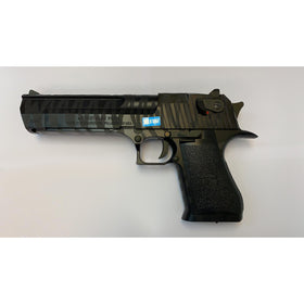 CYBERGUN LICENSED DESERT EAGLE .50 GBB PISTOL (TIGER STRIPE BLACK)-Pistols-Crown Airsoft