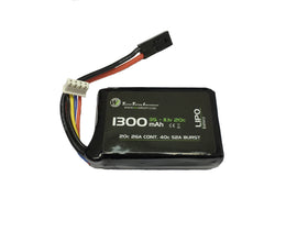 WETTI 1300mAh Li-Po 3S 11.1V 20C mirco (PEQ-15)-Batteries-Crown Airsoft