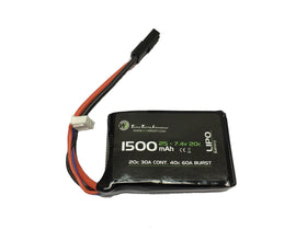 WETTI 1500mAh Li-Po 2S 7.4V 20C mirco (PEQ-15)-Batteries-Crown Airsoft