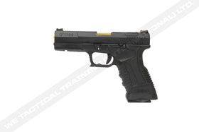 WE Tech GP1799 T1 Black Metal Slide Gold Barrel Pistol(BK/GD/BK)-Pistols-Crown Airsoft