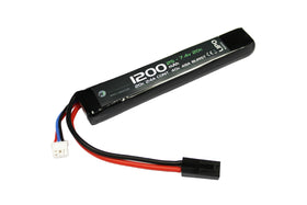 WETTI 1200mAh Li-Po 2S 7.4V 20C stick pack(B)-Batteries-Crown Airsoft
