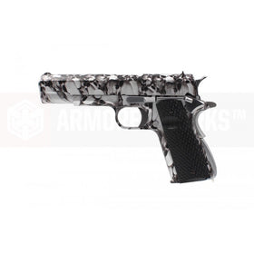 AW Custom NE210 11911 Gas Blow back pistol(Silver skull pattern)-Pistols-Crown Airsoft