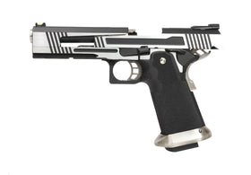 AW Custom Split Frame Hi-Capa Competition Grade Gas Blowback Airsoft Pistol - Two-Tone HX1001-Pistols-Crown Airsoft