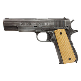 AW Custom Full Metal Custom ΜΟΛΩΝ ΛΑΒΕ 1911A1 Airsoft Gas Blowback Pistol - AW-NE20-Pistols-Crown Airsoft