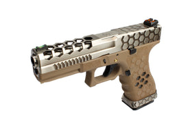AW Custom VX series Hex Cut GBB Pistol - TwoTone/Tan VX0110-Pistols-Crown Airsoft