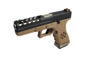 [Extra inner Barrel] AW Custom VX0111 Hex Cut GBB Pistol - Black-Pistols-Crown Airsoft
