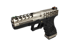 [Extra inner Barrel] AW Custom VX0100 Hex Cut GBB Pistol - TwoTone/Black-Pistols-Crown Airsoft