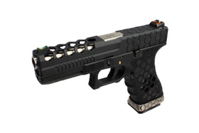 [Extra inner Barrel] AW Custom VX0101 Hex Cut GBB Pistol - Black-Pistols-Crown Airsoft