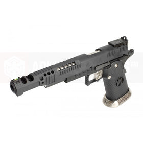 "AW Custom HX2402 ""Wind Velocity"" IPSC Gas Blowback Airsoft Pistol (Black)-Pistols-Crown Airsoft"