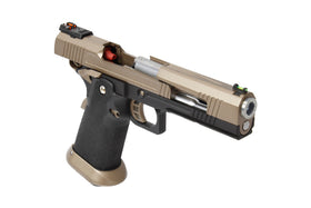 AW Custom AW-HX1003 Split Frame Hi-Capa GBB Pistol (TAN)-Pistols-Crown Airsoft
