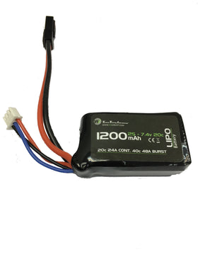 WETTI 1200mAh Li-Po 2S 7.4V 20C mirco pack-Batteries-Crown Airsoft