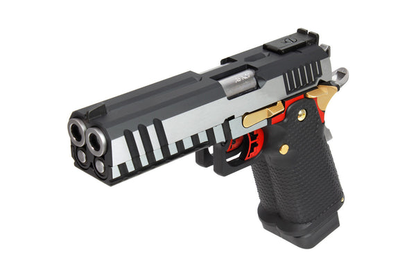 AW Custom AW-HX2101 Double Barrel 1911 Hi-Capa Gas Blowback Airsoft Pistol