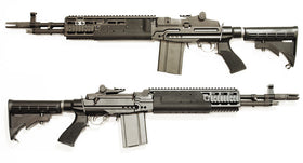 WE Tech MK14 MOD 1 EBR GBBR(Black)-Rifles-Crown Airsoft