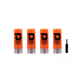DOMINATOR 12 GAUGE GAS SHOTGUN SHELLS PACKAGE (4 SHELLS/UNIT - Orange)-Accessories-Crown Airsoft