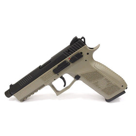 KJ Works CZ P-09 (Tan) - Green Gas Version-Pistols-Crown Airsoft