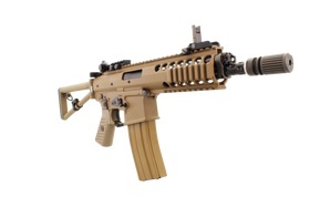 "WE Tech PDW 8"" GBBR (Tan)-Rifles-Crown Airsoft"