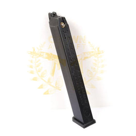 WE G17 / G18 50 Round Long Green Gas Airsoft Magazine (Black)-Pistol Magazines-Crown Airsoft