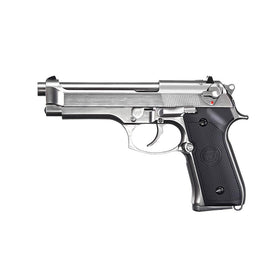 WE Tech M92 GBB Pistol (Gen 2, Silver)-Pistols-Crown Airsoft