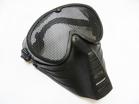 Tactical Low profile Mesh Mask (Black)-Headgear-Crown Airsoft