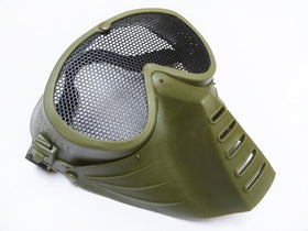 Tactical Low profile Mesh Mask (Green)-Headgear-Crown Airsoft