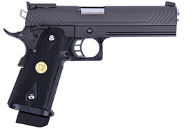 WE Tech Hi Capa 5.1 GBB pistol M Version (Black)-Pistols-Crown Airsoft