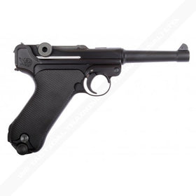 WE Tech WWII P08 GBB Pistol 4 inch (Black)-Pistols-Crown Airsoft
