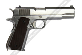 WE Tech Double-barrel 1911 GBB Pistol (Silver)-Pistols-Crown Airsoft