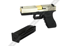 WE Tech Double Barrel G17 GBB Pistol (Silver)-Pistols-Crown Airsoft