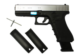 WE TECH G17 Gen 4 Silver-Pistols-Crown Airsoft