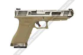 WE TECH G34 T8 SV/SV/TAN-Pistols-Crown Airsoft