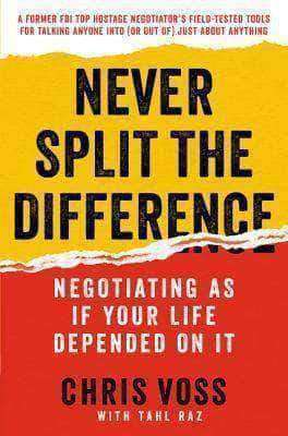 Never Split the Difference Negotiating as if Your Life Depended on It (Audiobook/E-Book) African American Books at United Black Books