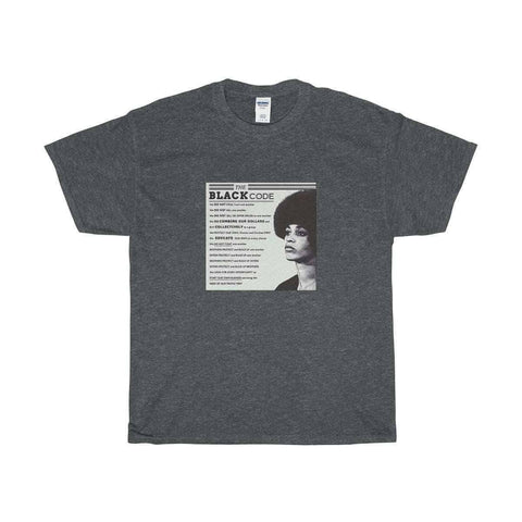 Download The Black Code Angela Davis - Unisex Cotton Tee, Urban Books, Black History and more at United Black Books! www.UnitedBlackBooks.org