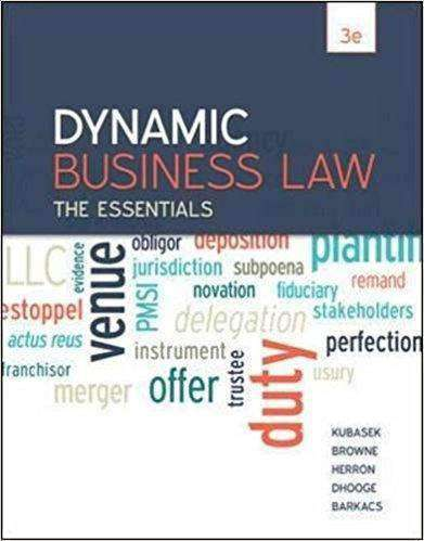 Download Dynamic Business Law, The Essentials (E-Book), Urban Books, Black History and more at United Black Books! www.UnitedBlackBooks.org